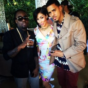Wale-Bridget-Kelly-and-J.-Cole-at-The-2014-Roc-Nation-Pre-GRAMMY-Brunch
