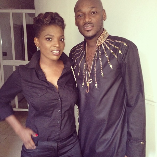 all-black-erything-2face-annie-idibia-rock-matching-outfits-look1