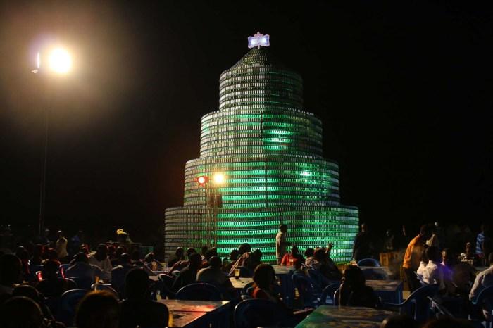 3. Star Bottle Tree (Night Photo)