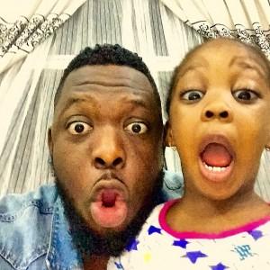 Timaya and daughter