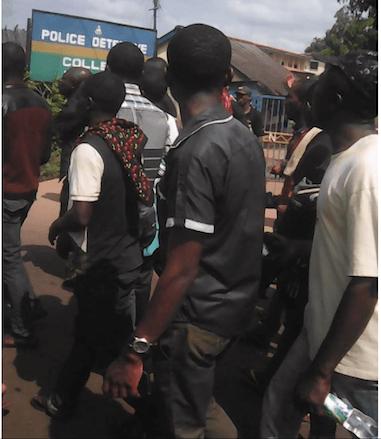 Enugu Police Station protesters