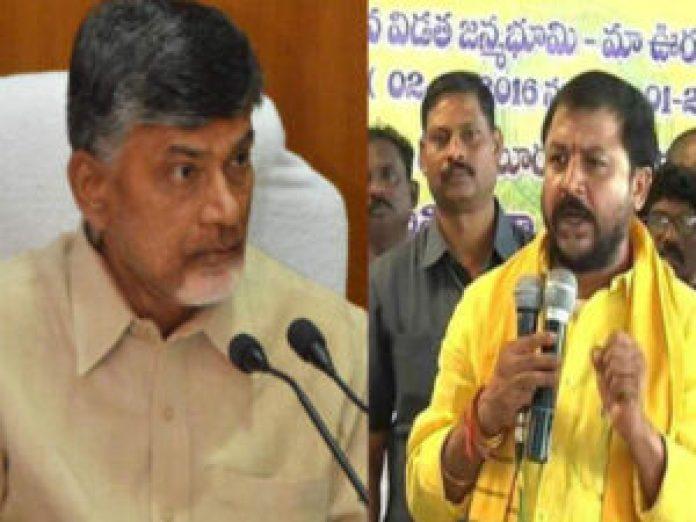 sambasiva rao issue chandrababu serious warning given to chintamaneni