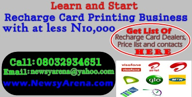 Recharge Card Printing Business