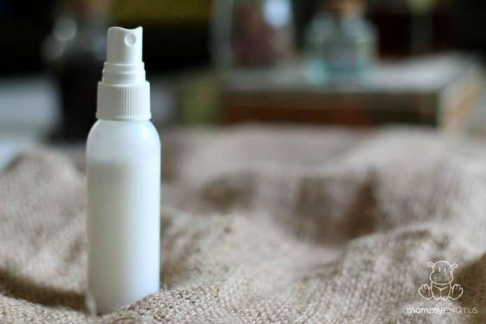 Coconut milk DIY leave-in conditioner on table