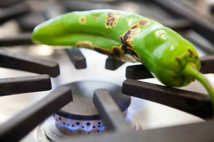 roast green chiles for enchiladas