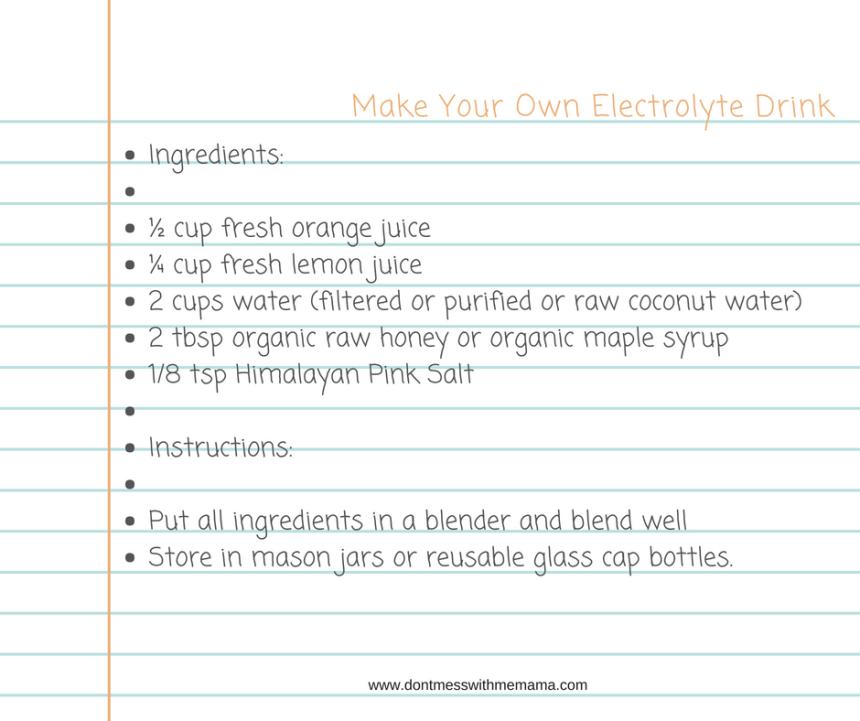 Electrolyte Recipe