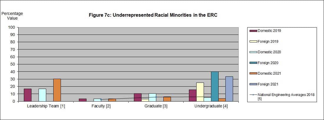 Chart Underrepresented Racial Minorities in the ERC 2021