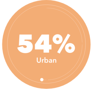 NTN students are 54% urban
