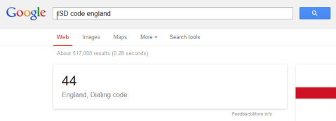 ISD code google