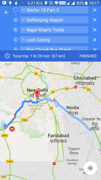 google map custom direction-