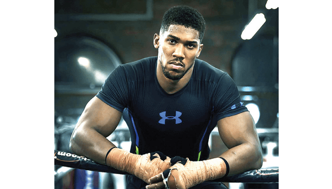 Anthony Joshua laughs off