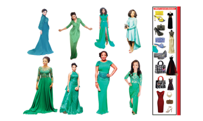 Look fab in shades of green
