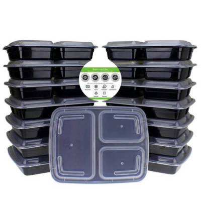 Stack of meal prep containers