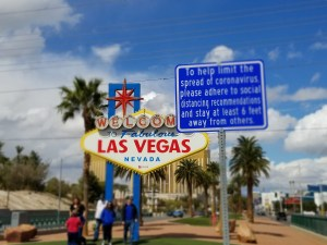 Social distancing Las Vegas-style