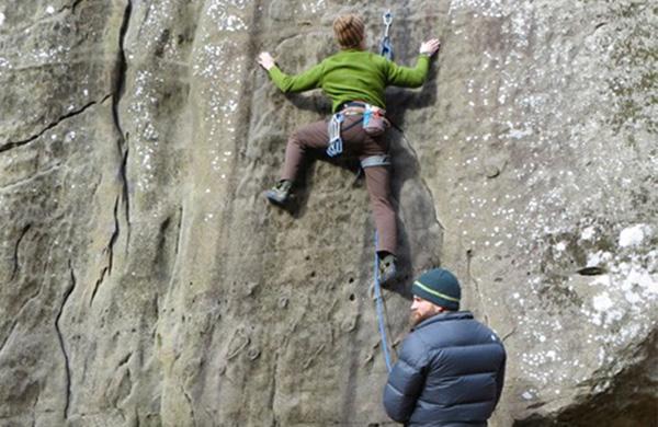 Slab Climbing at Jackson Falls