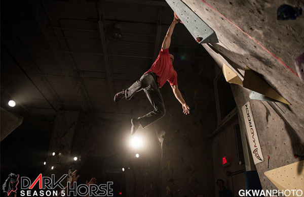 Tim Rose at Dark Horse Bouldering Comp