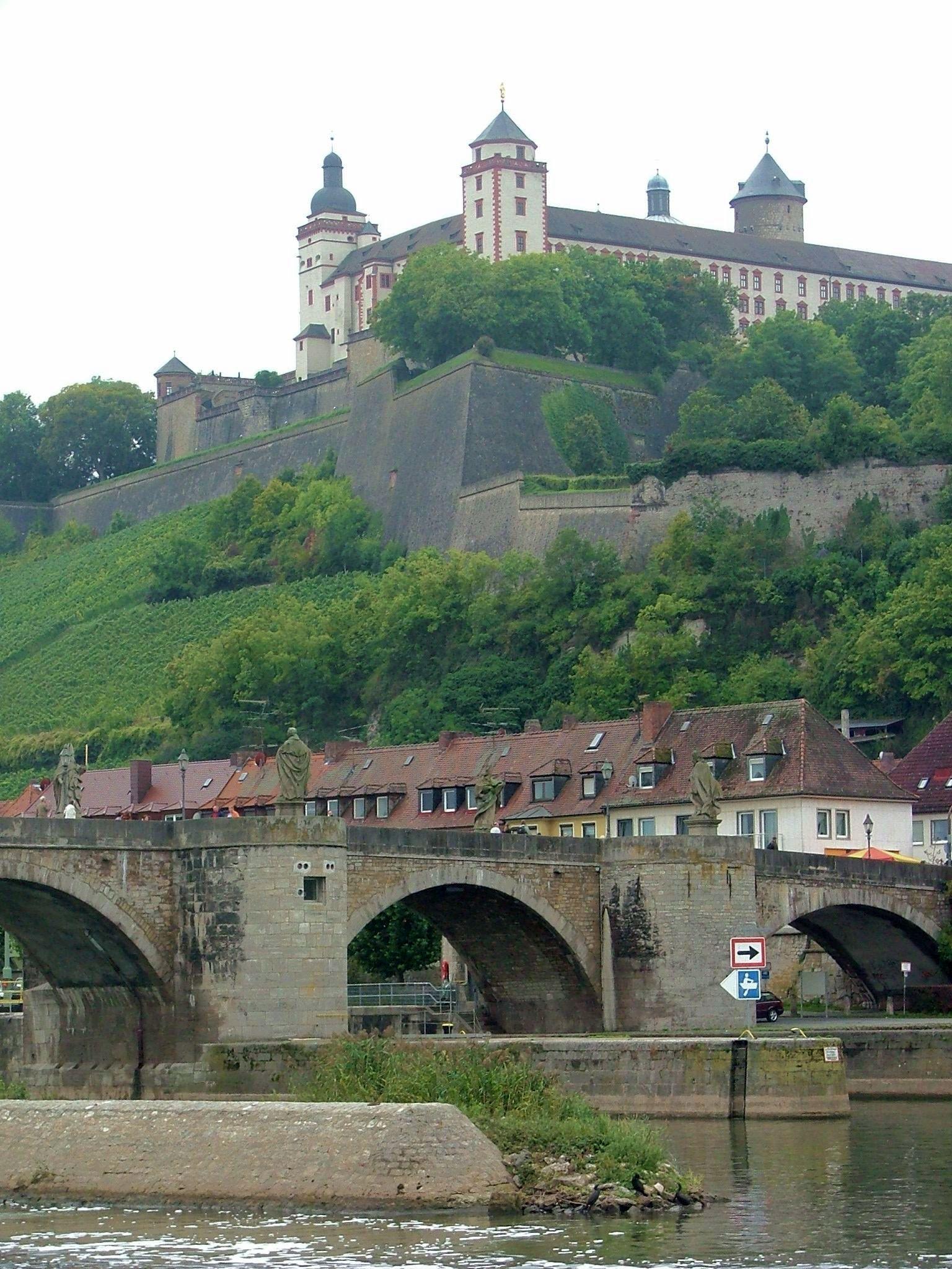 Wurzburg Old Bridge and the Fortress Marienberg