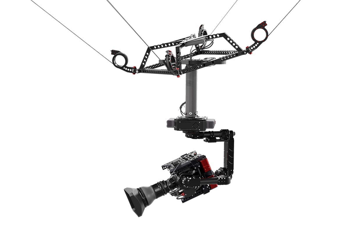 3d Cable Cam Spidercam With Newton Stabilized Remote Head