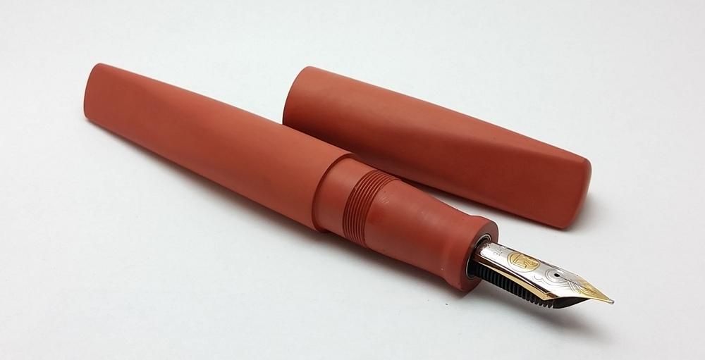 prospector orange ebonite oversize long newton pens since 2012