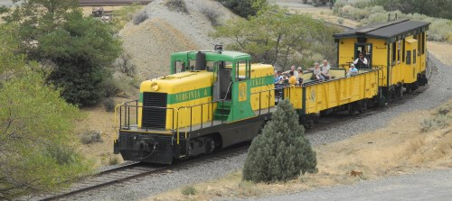 Virginia Truckee Railroad excursion train, Virginia City, Nevada, NV