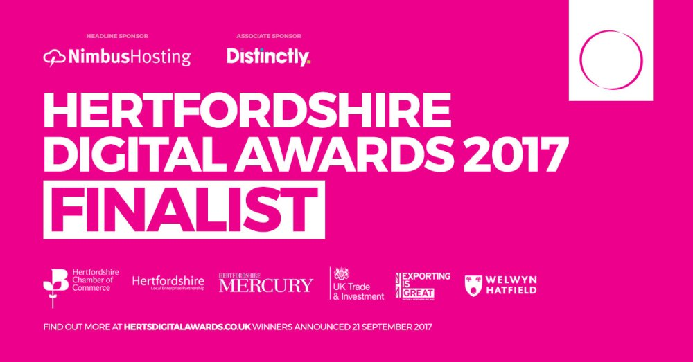Hertfordshire Digital Award finalist