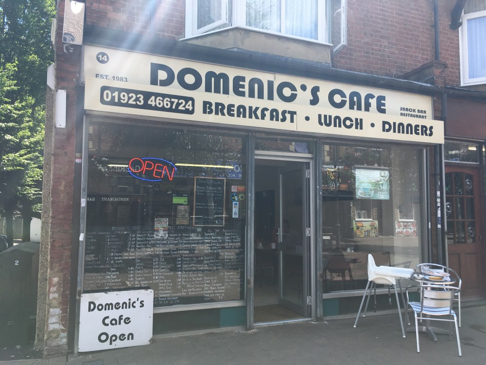 Outside of Domenic's Cafe