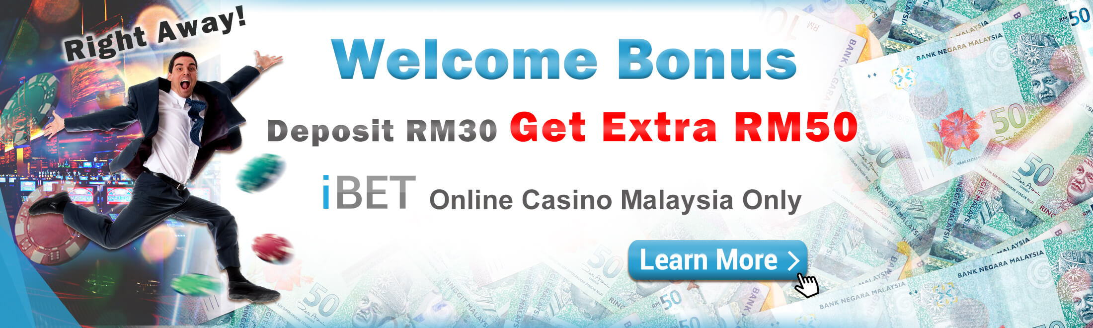 Newtown in iBET Deposit RM 30 Free RM 50 Slot game Welcome Bonus