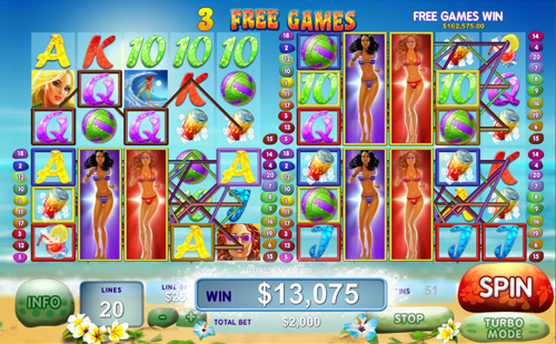 "Newtown Casino Slot ""Sunset Beach"" Sexy Free Game"