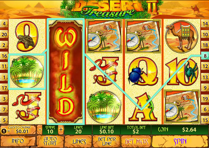 "Play ""Desert Treasure 2"" Newtown Casino Game for Free"