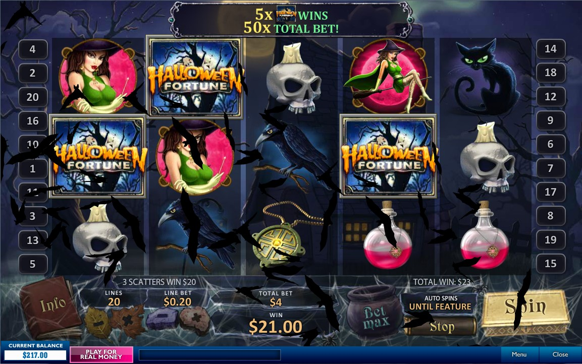 Play Halloween Fortune Newtown Casino Slot for Free