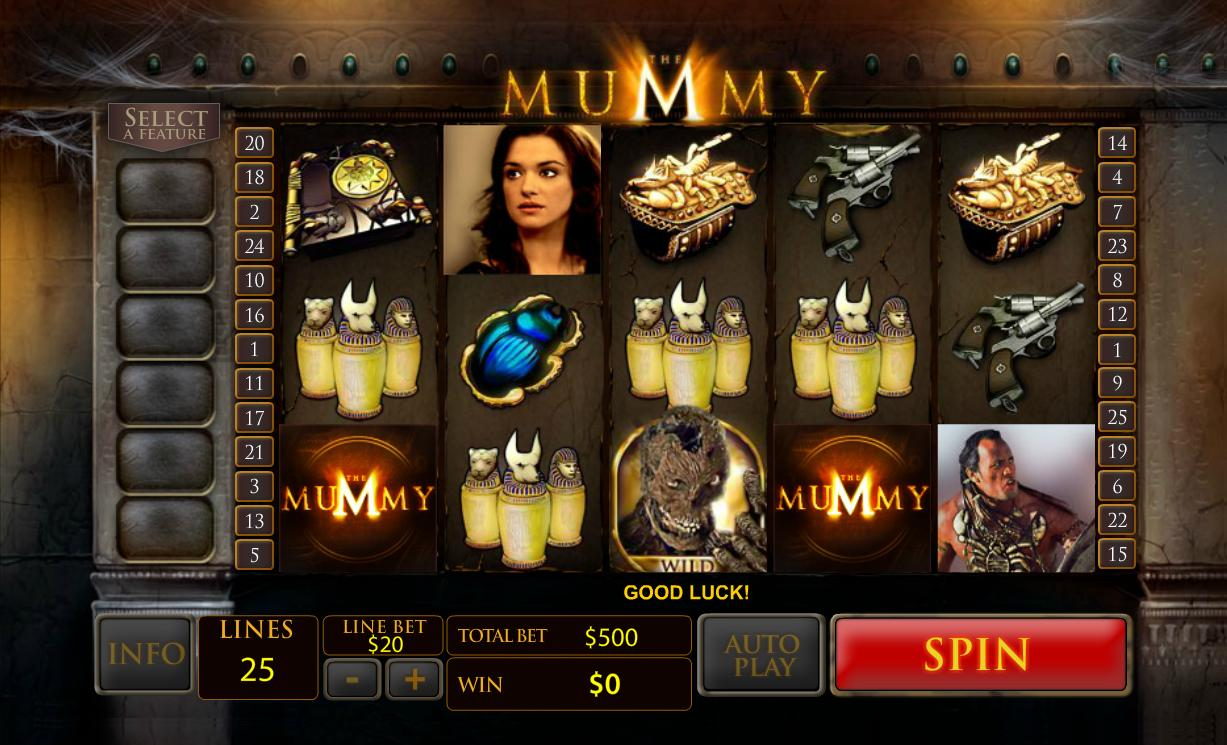 """The Mummy"" Newtown Casino Slot Free Game Play!"