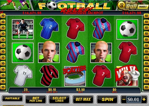 "Newtown Casino Free Football Slot Game ""Football Rules"" GOAL!!!!!"
