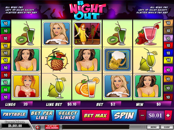 a night out newtown slot game picture