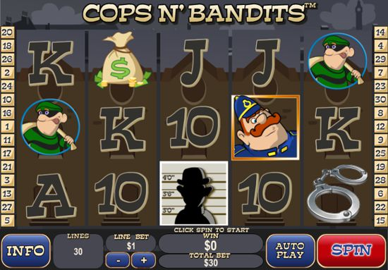 Cops n Bandits Newtown Casino Slot Game