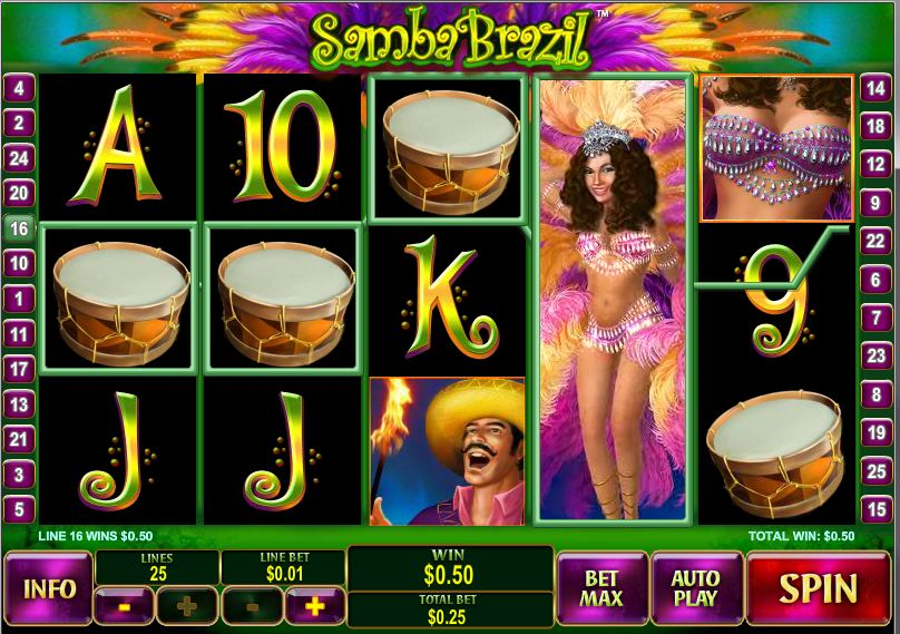 "Newtown Casino Enthusiastic Slot Game ""Samba Brazil"""
