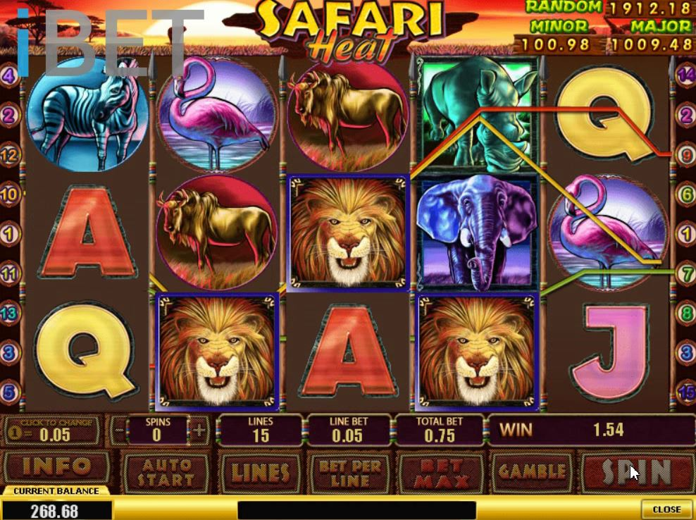 NTC33 Safari Heat Animal Slot Game - Newtown Casino NTC33