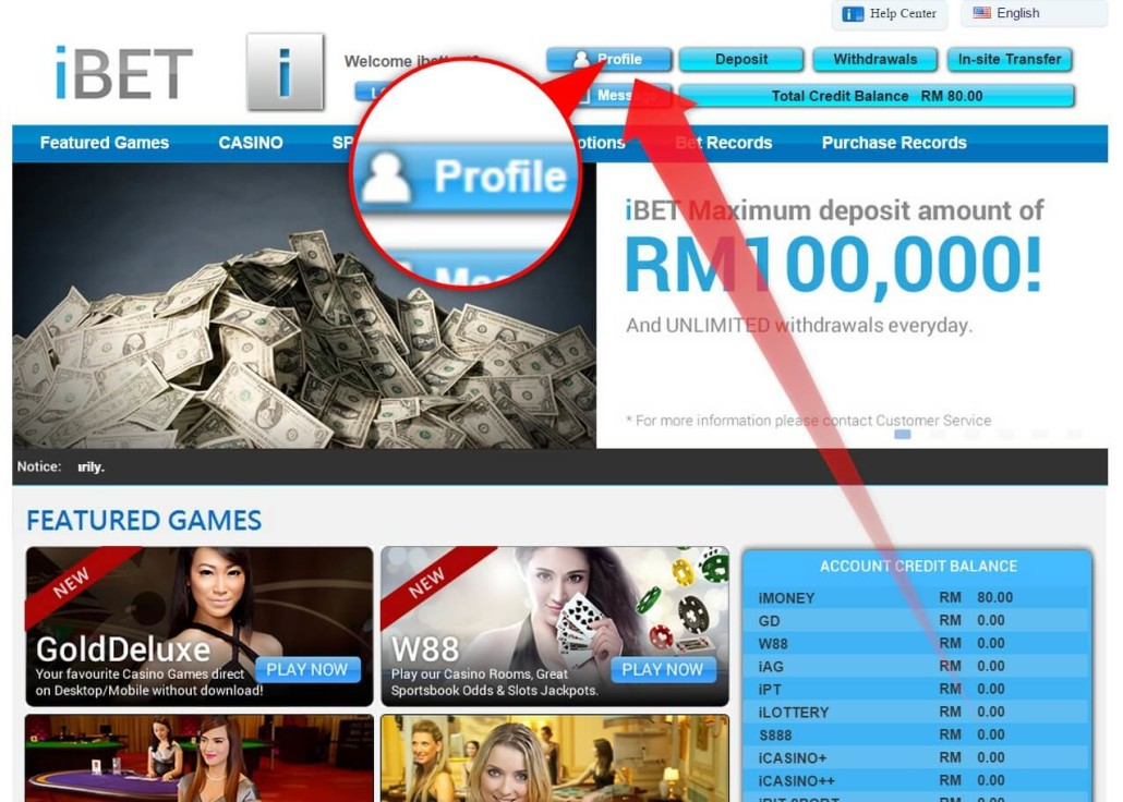 iBET Newtown Online Casino Activate Account Tutorial-1