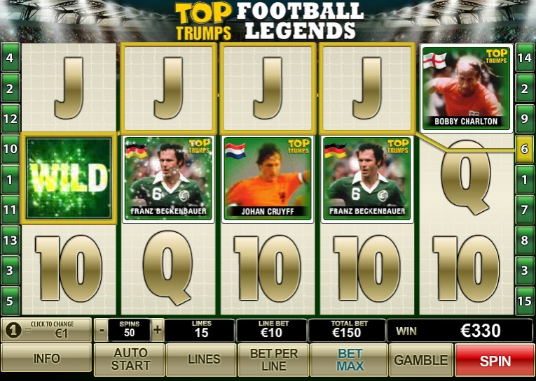 sky888 Newtown Casino Top trumps - Football Legends Slot Game