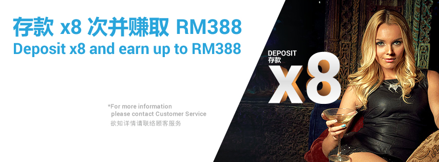 Newtown Online Slot Up to RM388 Deposit Bonus x8