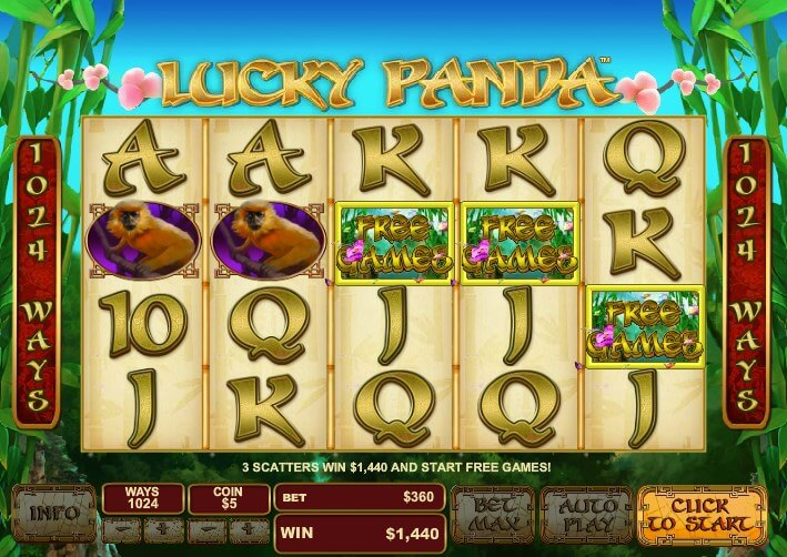 m.ntc33 Lucky Panda Online Slot Game with Chinese Cute Animal
