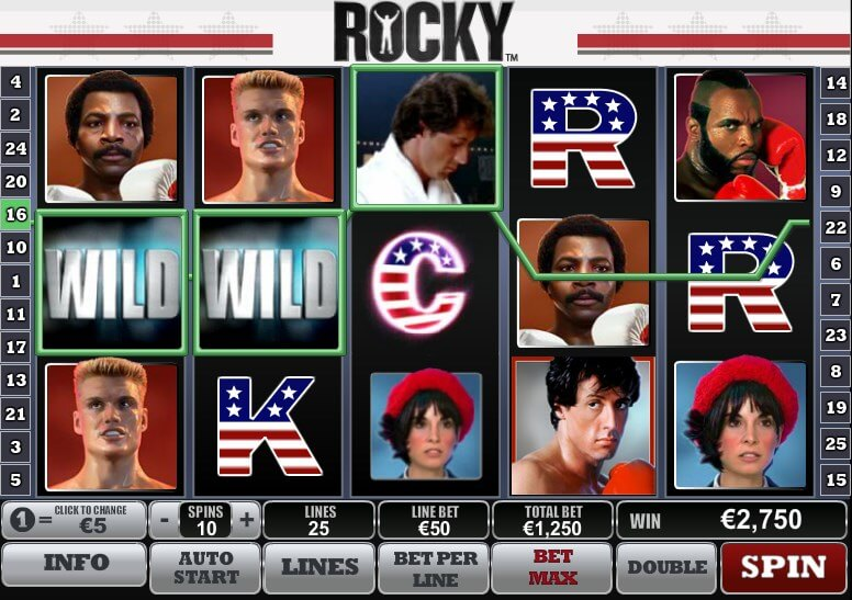 Rocky Movie Online Slot Game by Sylvester Stallone