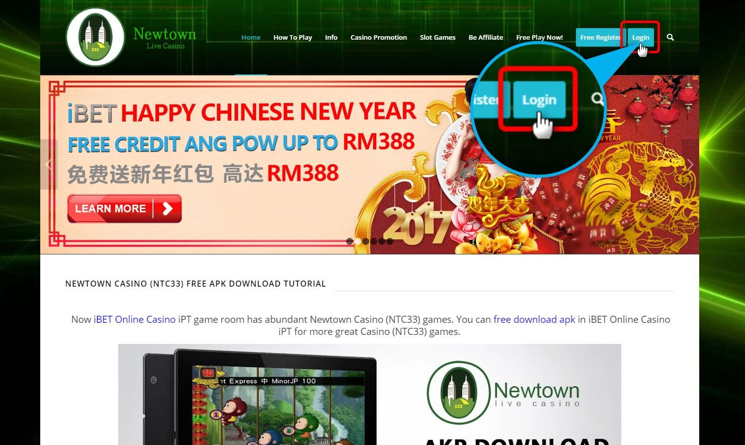Newtown show you how to get Free Ang Pow of Happy CNY