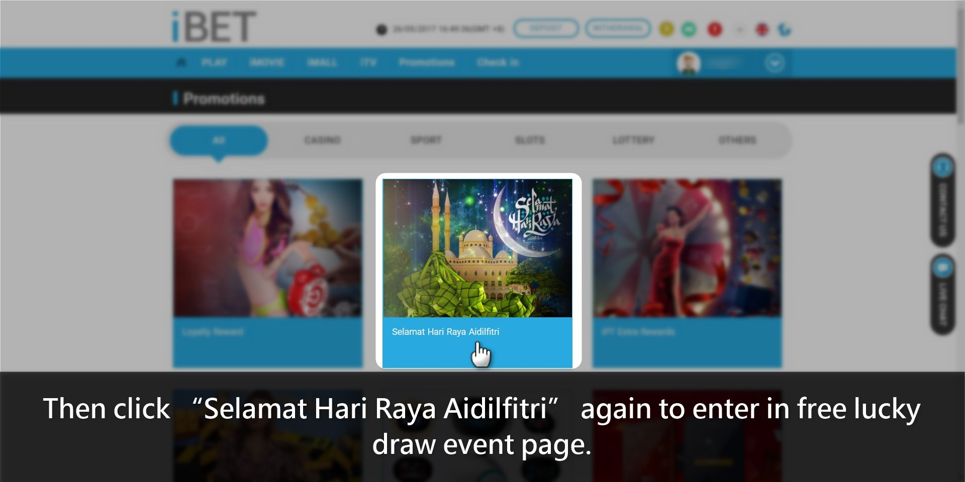 How to get iBET Hari Raya Aidilfitri tutorial