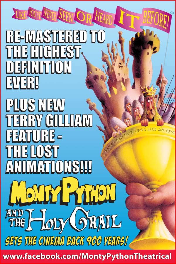Monty Python and the Holy Grail, plux new Terry Gilliam feature - The Lost Animations!!