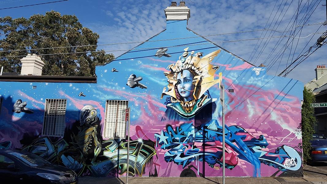 Graffiti Street Art Cnr Denison & Lennox St