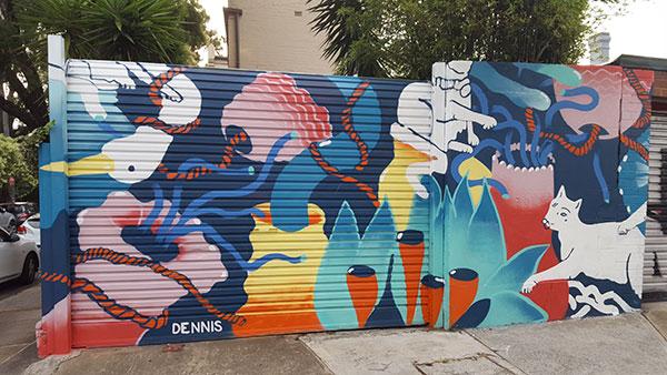 Bailey Street Mural by JUMBOist