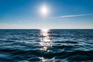 horizon, ocean, reflection