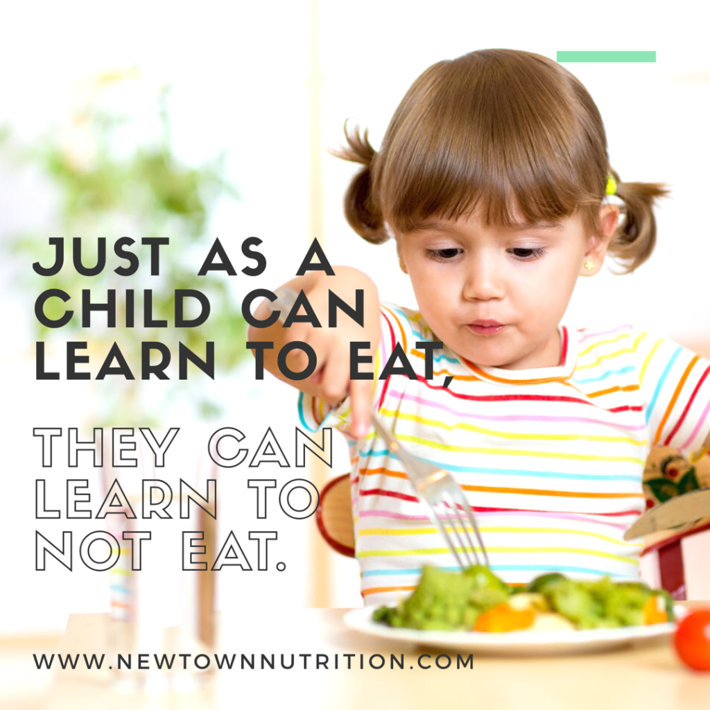 Just as a child can learn to eat they can learn to not eat| Fussy eating in kids