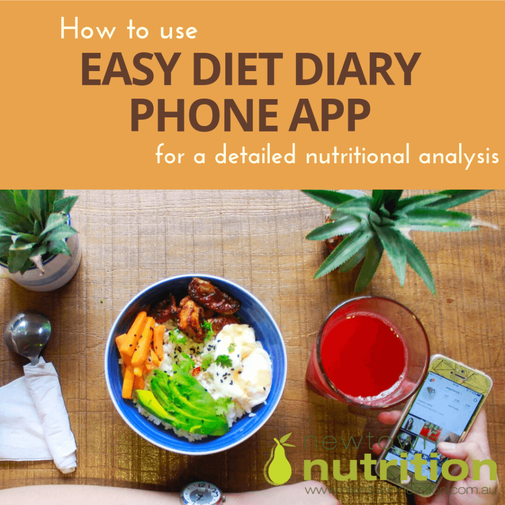 How to use Easy Diet Diary phone app for a detailed nutritional analyssi of your diet