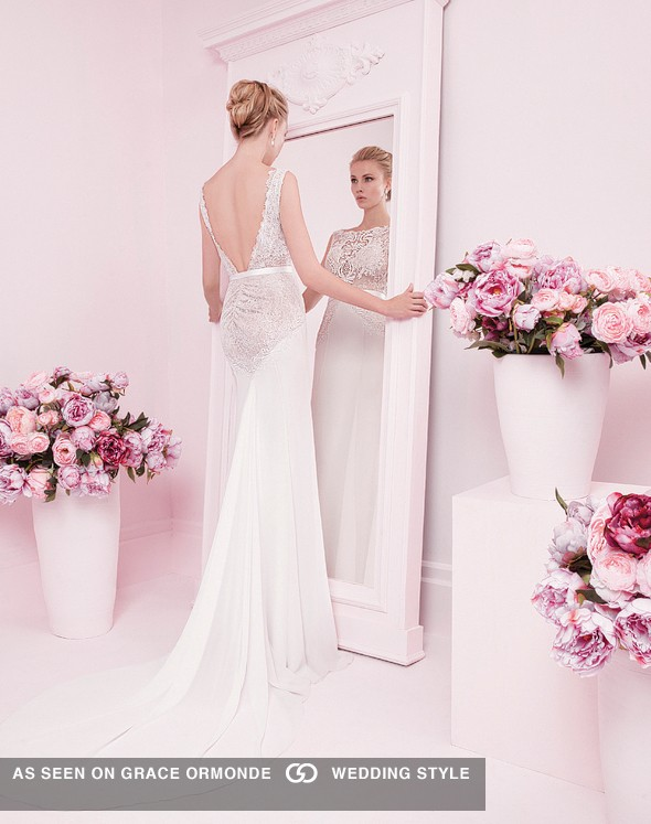 backless white wedding gown